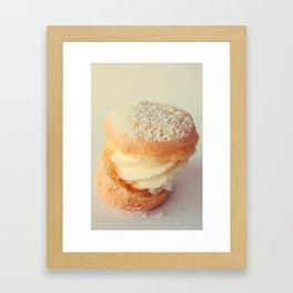 Cream Puff Framed Art Print