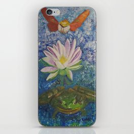 Hummingbird Moth and Frog iPhone Skin