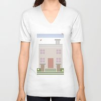 house V-neck T-shirts featuring House  by Latoya's playhouse