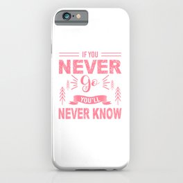 If You Never Go You'll Never Know pw iPhone Case