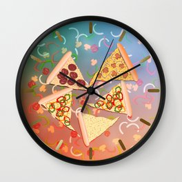 Pizza (A Reverie) Wall Clock