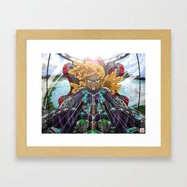 Myika piloting Swart Vrou Framed Art Print