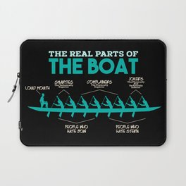 Funny Rowing Gifts - The real parts of the boat Laptop Sleeve