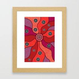 Authentic Aboriginal Art - Central Lands Framed Art Print