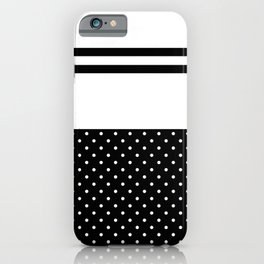 Dots and Black Stripes iPhone Case