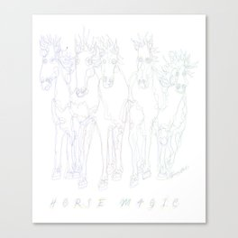 Horse Magic Line Drawing Horse Silhouette Design for #Society6 Canvas Print