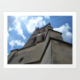 Saint Emilion spire Art Print