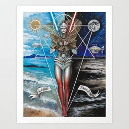 Eclipse 2 - Balance of 2 Swords Art Print