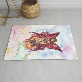 Spring Red Fairy Rug