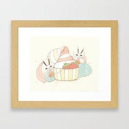 Bunny In Tutu: frozen yoghurt Framed Art Print