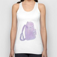 backpack Tank Tops featuring Backpack purple by Atelier Pora