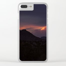 Vibrant Sunset over the Mountains in Terlingua, Big Bend - Landscape Photography Clear iPhone Case