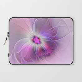 Abstract Flower With Pink And Purple Fractal Laptop Sleeve