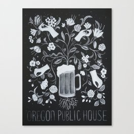 Oregon Public House Poster - 4 Canvas Print