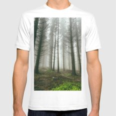 Follow me into the woods Mens Fitted Tee MEDIUM White