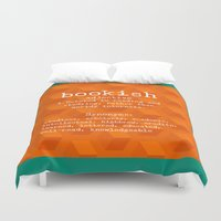 tote bag Duvet Covers featuring Bookish tote bag design by Artistic Home Decor