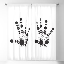 Geometric Hand Blackout Curtain