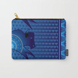 Buffalo Running (Blue) Carry-All Pouch