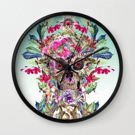 Momento Mori Floral Wall Clock