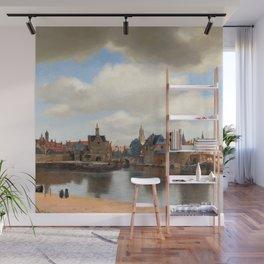 "Johannes Vermeer ""View of Delft"" Wall Mural"