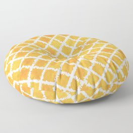 Yellow Turkish Morroccan Ikat Pattern Overall Design by Megan Duncanson Floor Pillow
