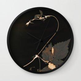 Snakewinder Hops Botanical Lumen Print Wall Clock
