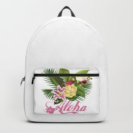 Hawaii Style Tropical Art Backpack