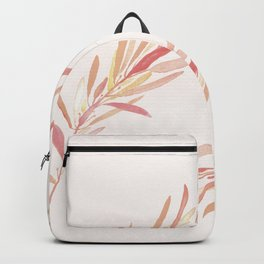 Eucalyptus Leaves Pink Backpack