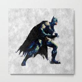Hero Bat Man Metal Print