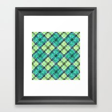 checkered pattern Framed Art Print