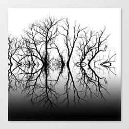 Silhouetted Beauty Black Canvas Print