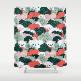 The Vegetable Lamb of Tartary Shower Curtain