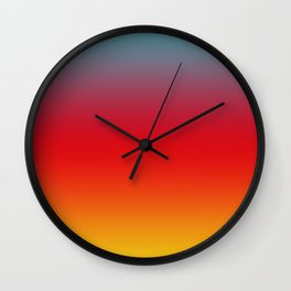 Aruba - Classic Colorful Blue Red Yellow Abstract Minimal Modern Summer Style Color Gradient Wall Clock