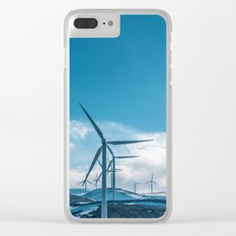 The Wind Farm (Color) Clear iPhone Case