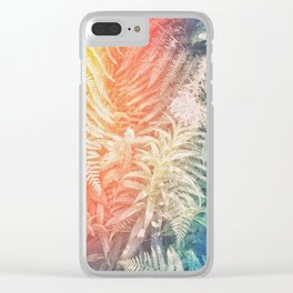 Fern and Fireweed 03 - Retro (everyday 07.01.2017) Clear iPhone Case