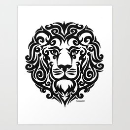 Tribal Lion Art Print