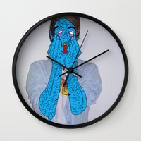 zombie Wall Clocks featuring Zombie by Digital Death