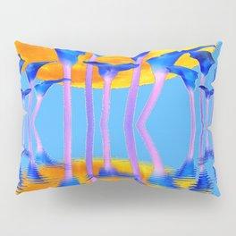BLUE CALLA LILIES & MOON WATER GARDEN  REFLECTION Pillow Sham