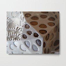 Zebra Mesh Metal Print
