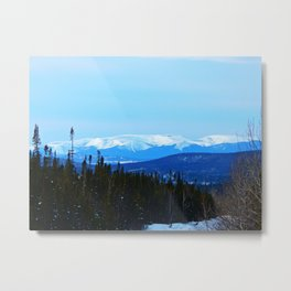 Chic-Choc Mountains in snow Metal Print