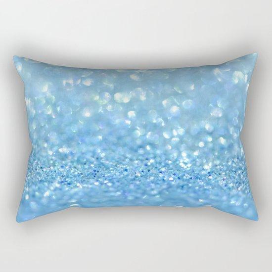 Sparkling Baby Sky Blue Glitter Effect - on #Society6 Rectangular Pillow