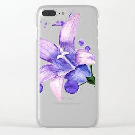 violet flower of bluebell Clear iPhone Case