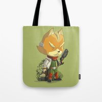 starfox Tote Bags featuring Fox by Rod Perich
