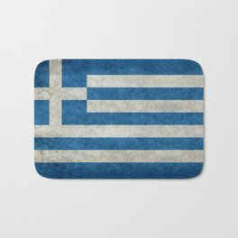 Flag of Greece, vintage retro style Bath Mat