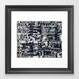 Screen Grid, Tile 1 Framed Art Print
