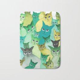 Kiowa Whimsical Cats Bath Mat