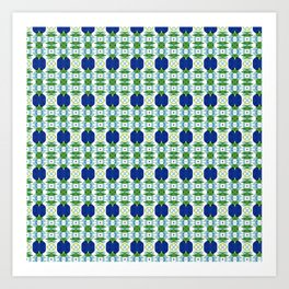 Blue Sapphires - this design goes well with Blue and Green Calm Art Print