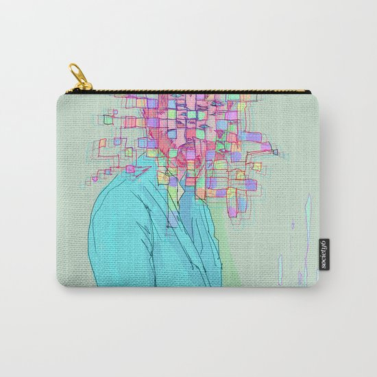Psychedelic face Carry-All Pouch