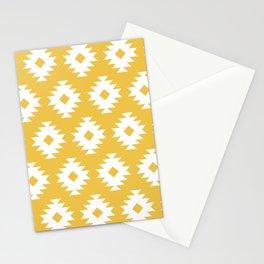 Southwestern Pattern 424 Yellow Stationery Cards