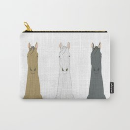 Triple Horses Carry-All Pouch
